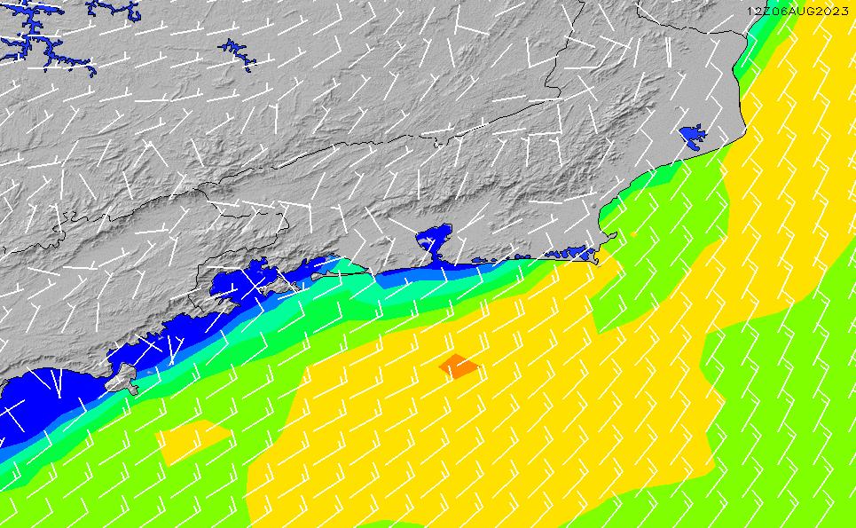 2021/3/6(土)9:00風速・風向