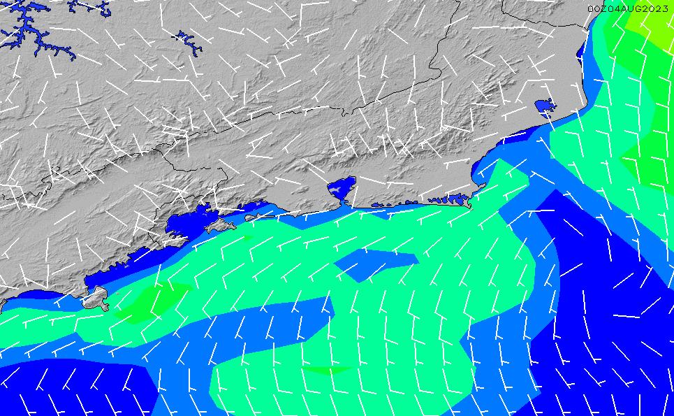 2021/3/4(木)3:00風速・風向