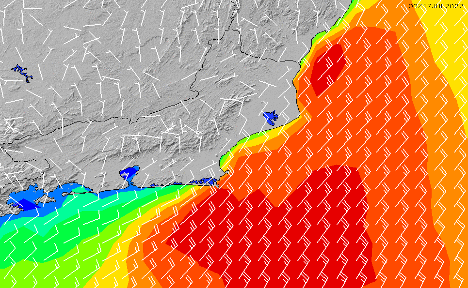 2020/9/27(日)21:00風速・風向