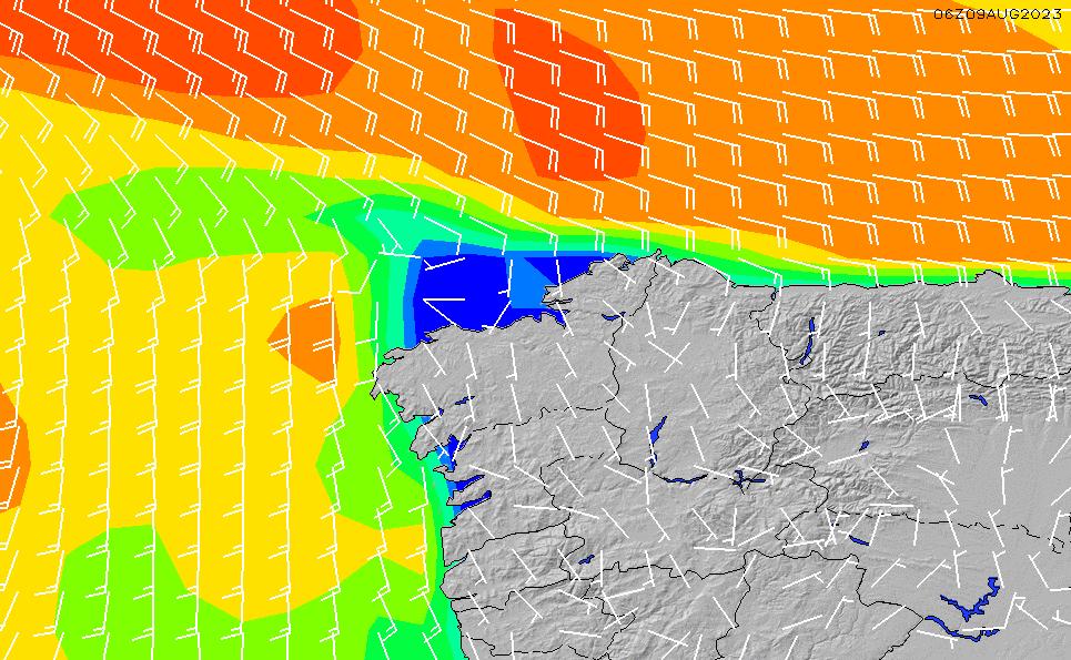 2021/5/9(日)2:00風速・風向