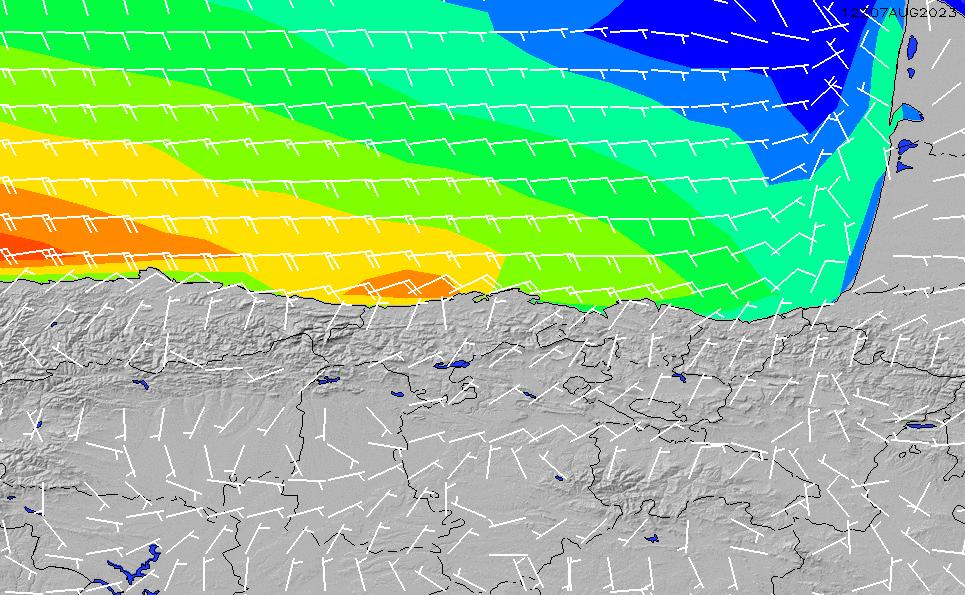 2021/5/12(水)20:00風速・風向