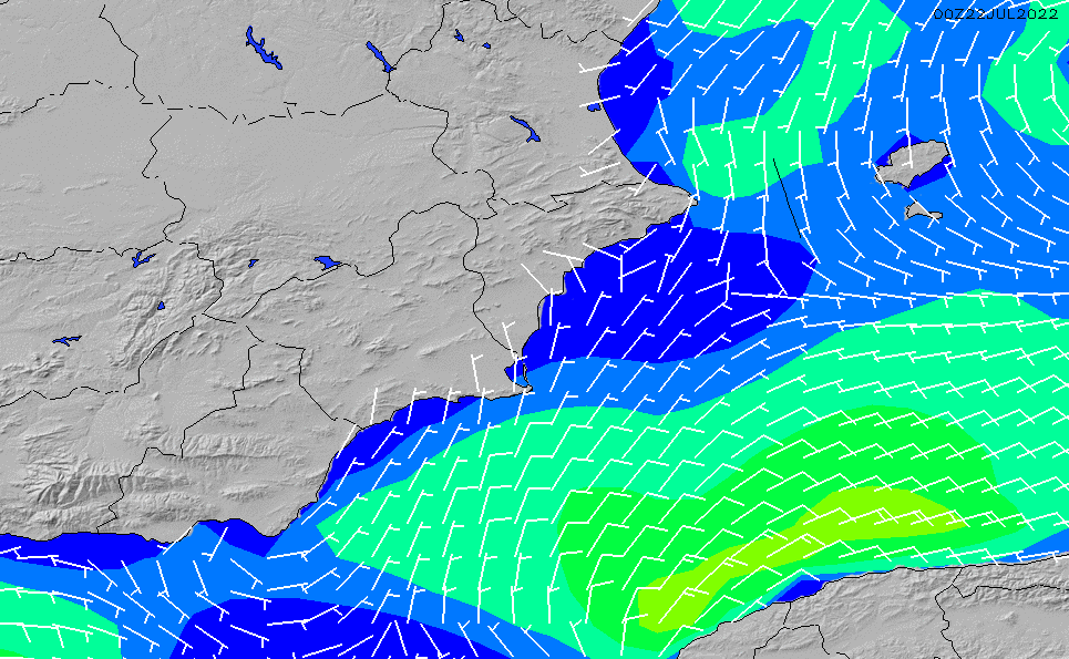 2021/3/6(土)7:00風速・風向