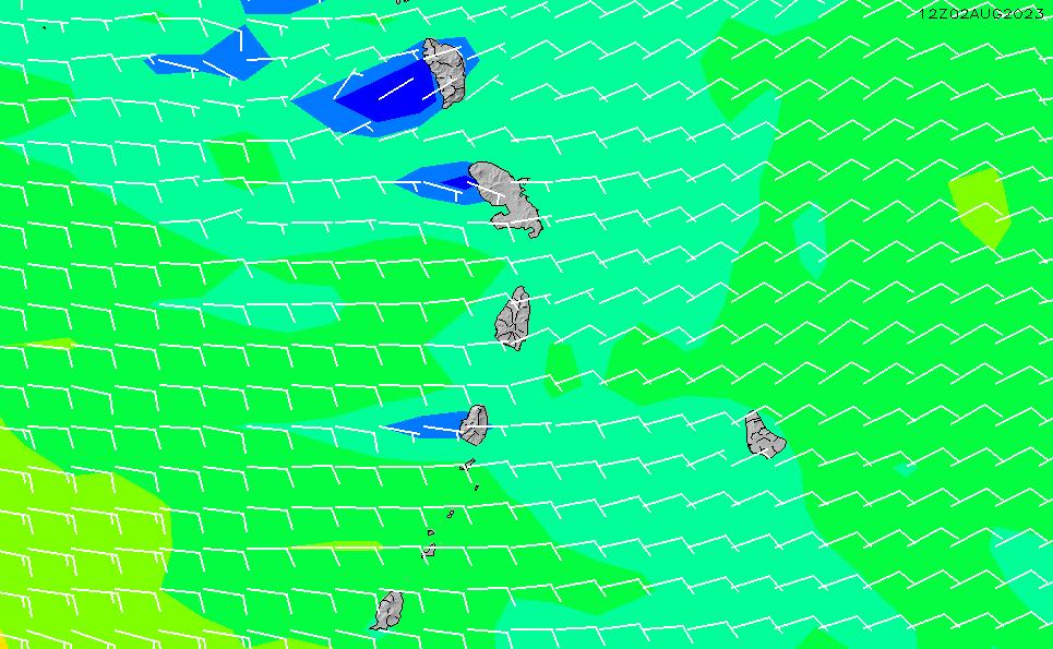 2021/3/6(土)10:00風速・風向