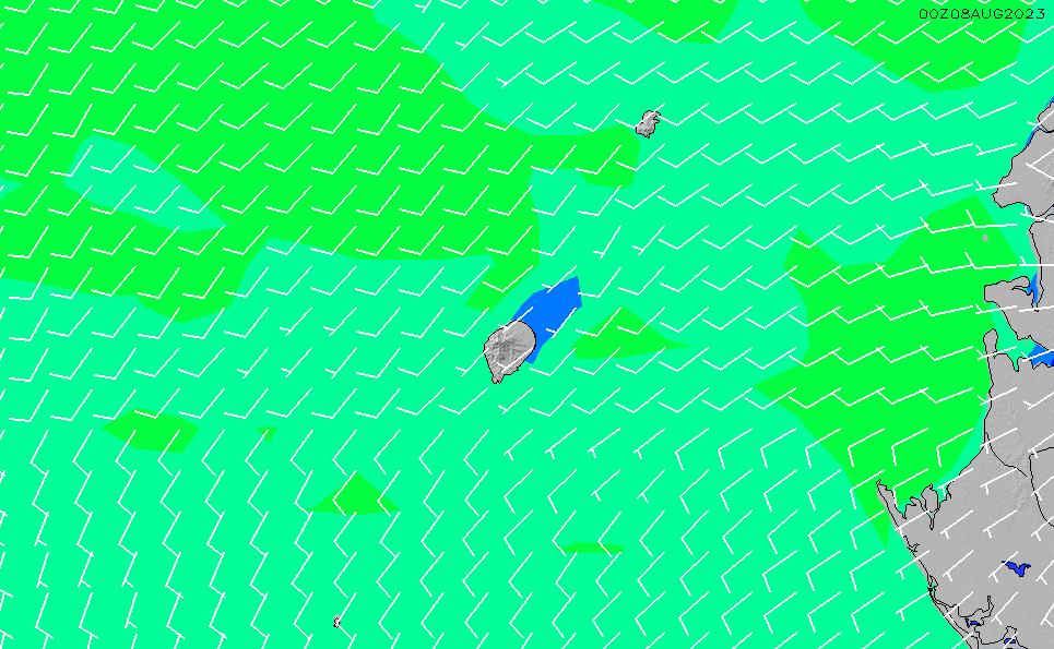 2021/5/9(日)6:00風速・風向