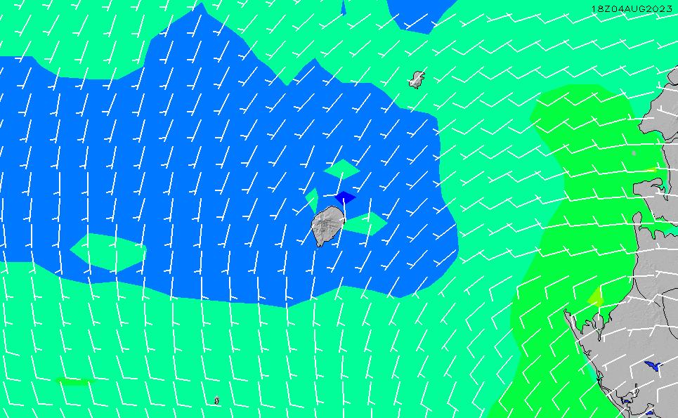 2021/10/28(木)18:00風速・風向