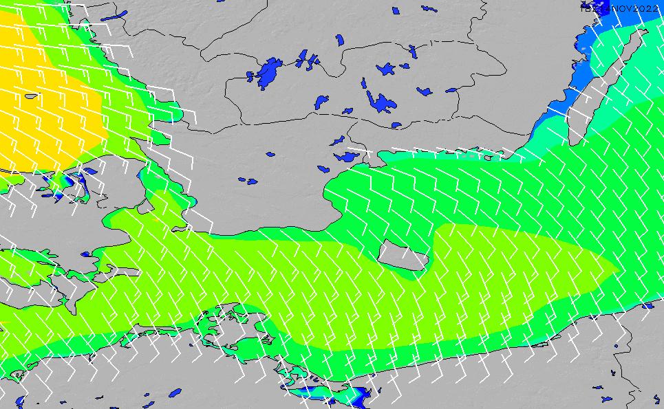 2021/2/28(日)19:00風速・風向