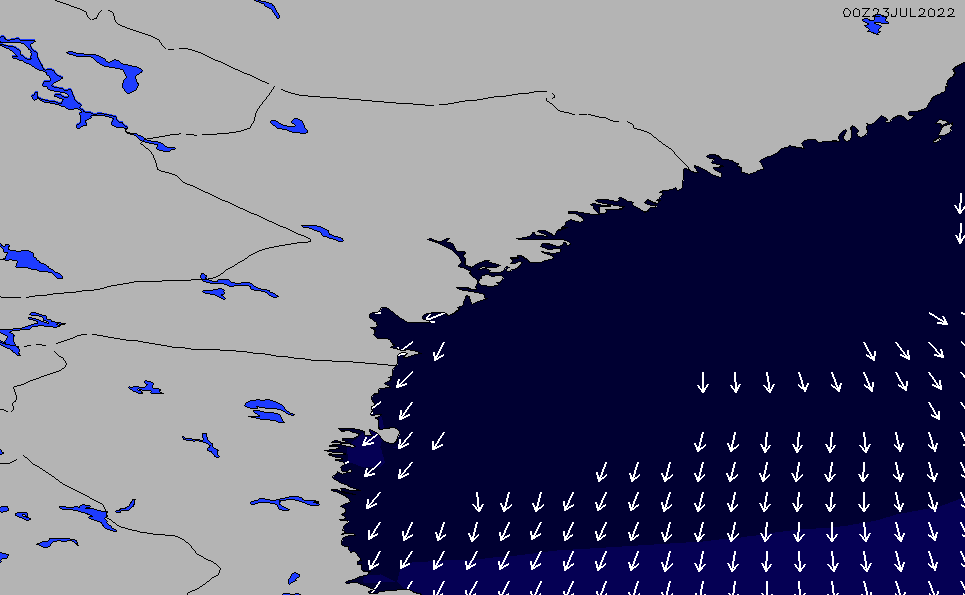 2020/8/11(火)14:00ポイントの波周期