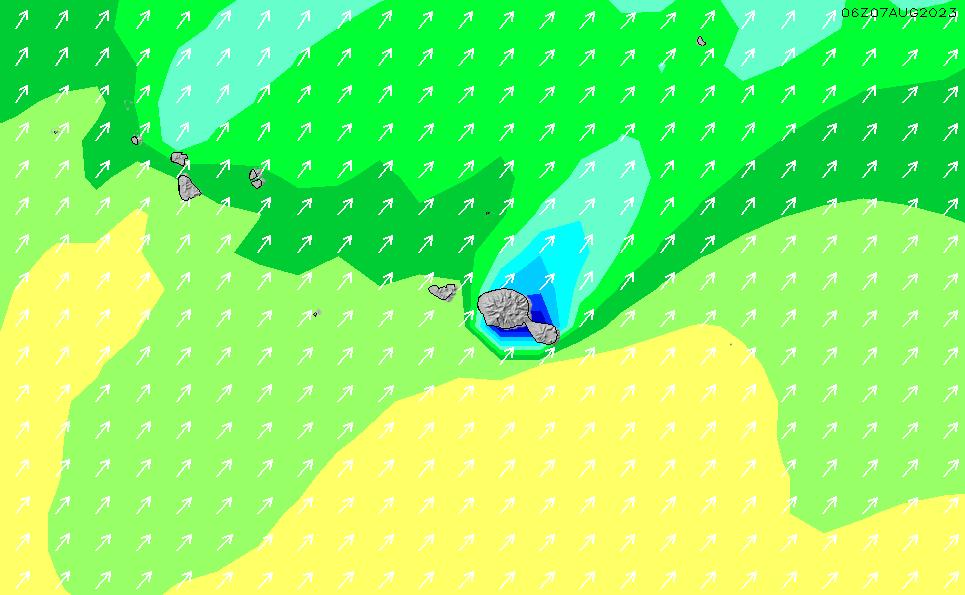 2020/3/29(日)16:00波高チャート