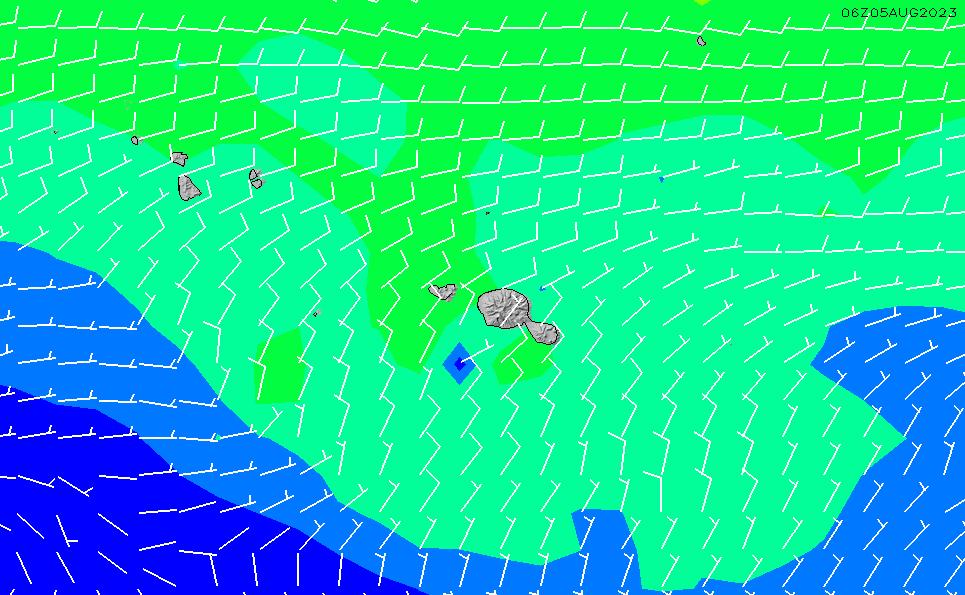 2021/10/26(火)22:00風速・風向