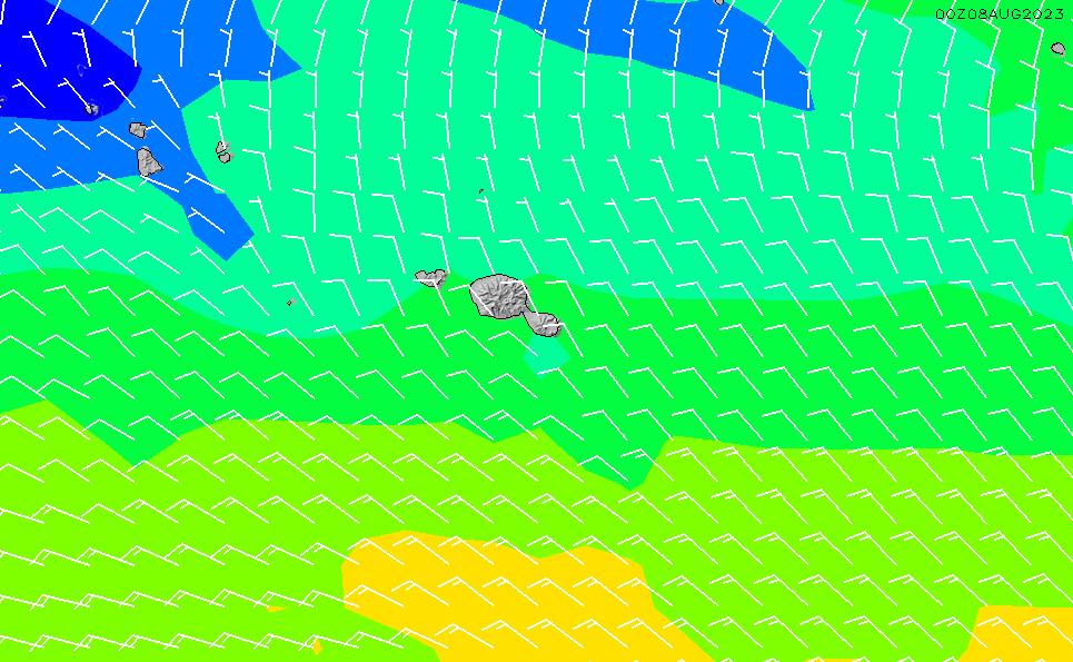 2021/10/22(金)16:00風速・風向