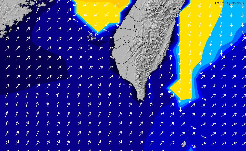 2021/10/26(火)20:00ポイントの波周期