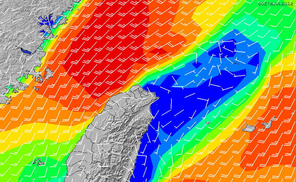 2021/3/2(火)14:00風速・風向