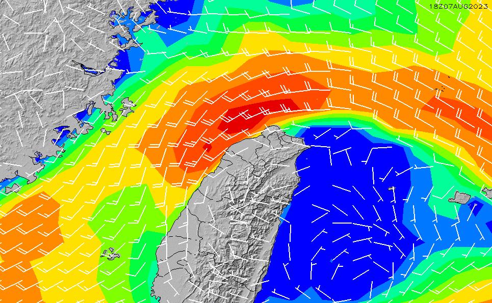 2021/5/14(金)14:00風速・風向