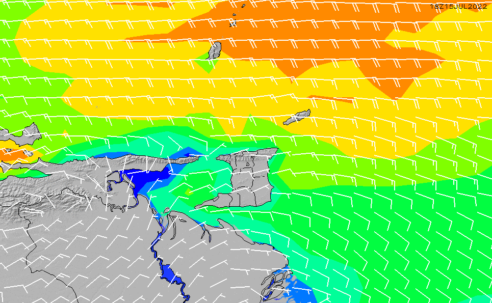 2021/5/11(火)16:00風速・風向