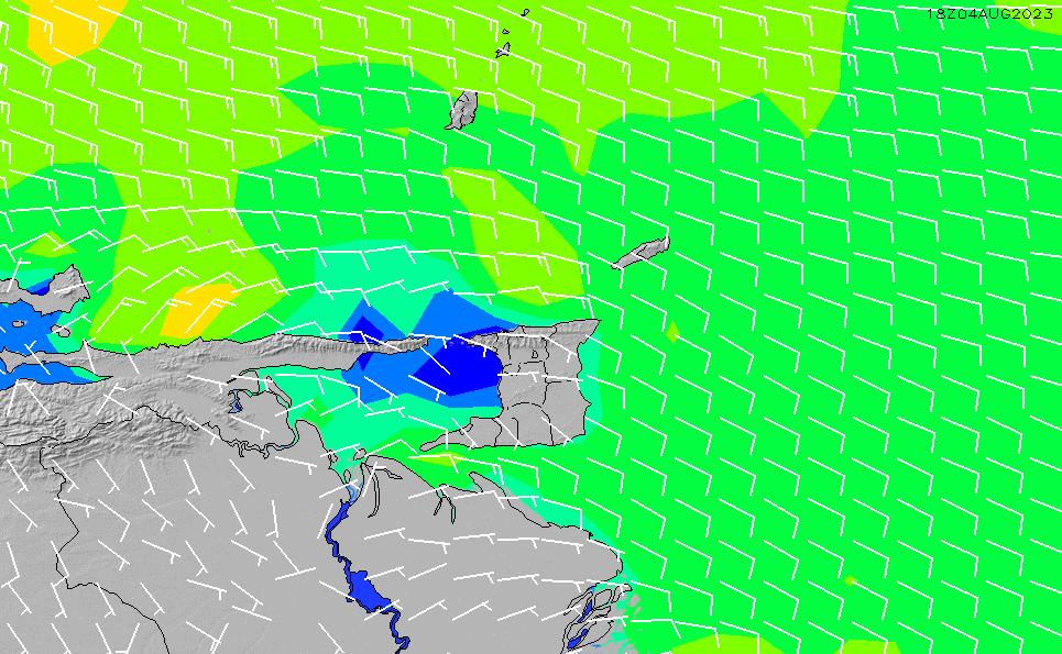 2021/3/6(土)4:00風速・風向