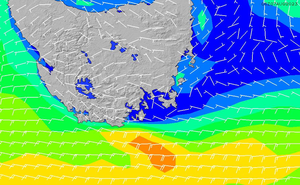 2021/10/20(水)23:00風速・風向