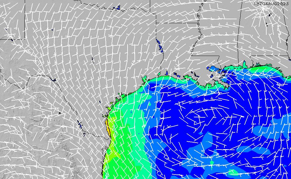 2020/9/30(水)5:00風速・風向
