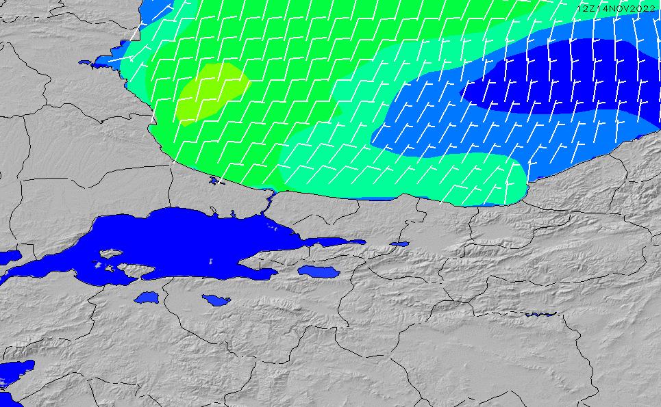 2020/4/1(水)21:00風速・風向