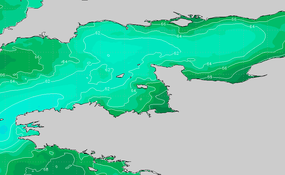Channel Islands England Water Temp Sea Surface Temperature Chart