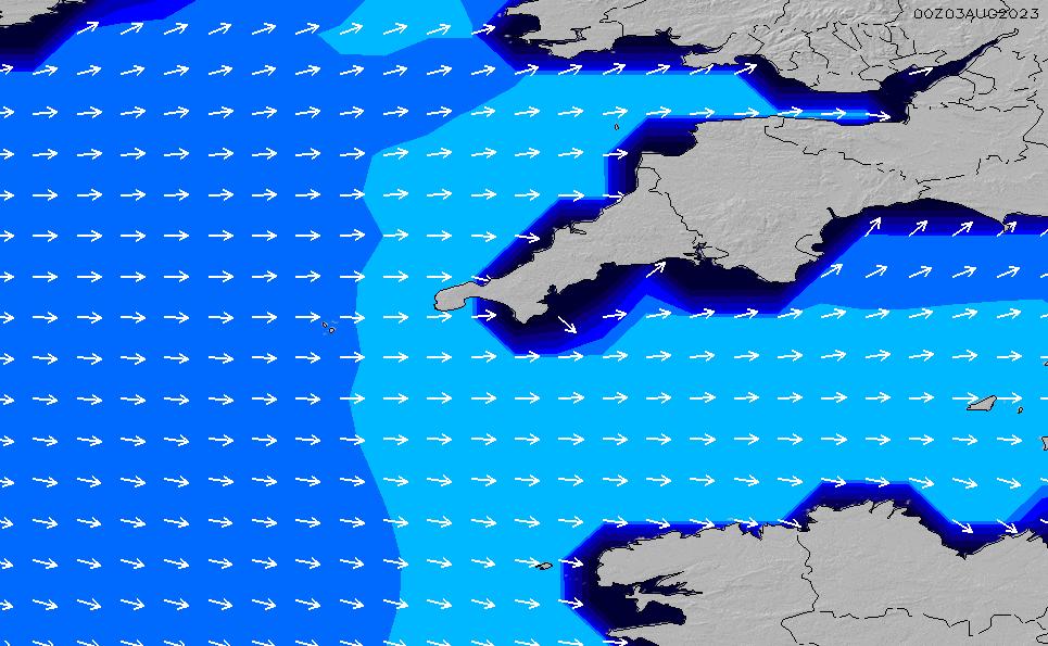 2021/5/9(日)13:00ポイントの波周期