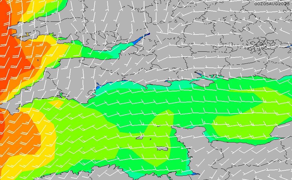 2021/4/12(月)13:00風速・風向