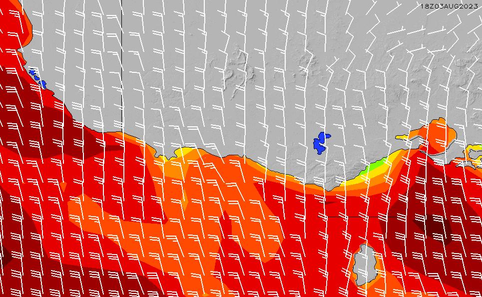 Western Victoria Wind - Global Forecast System (GFS) Model - Surfline