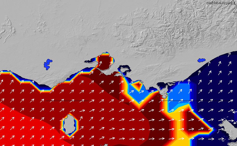 2021/2/25(木)23:00ポイントの波周期
