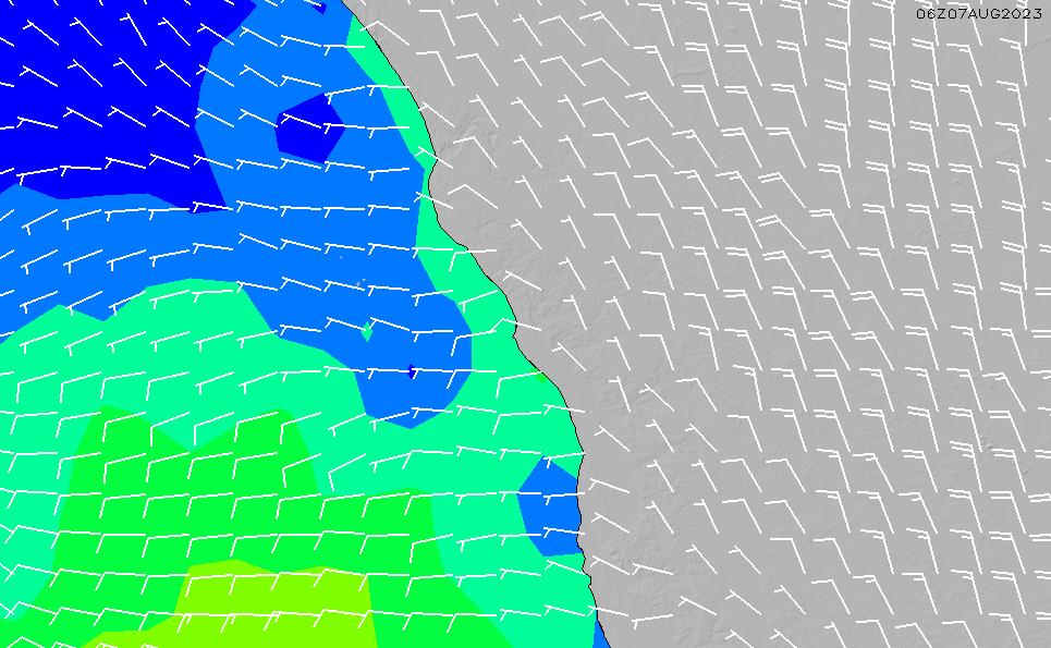 2020/9/28(月)8:00風速・風向