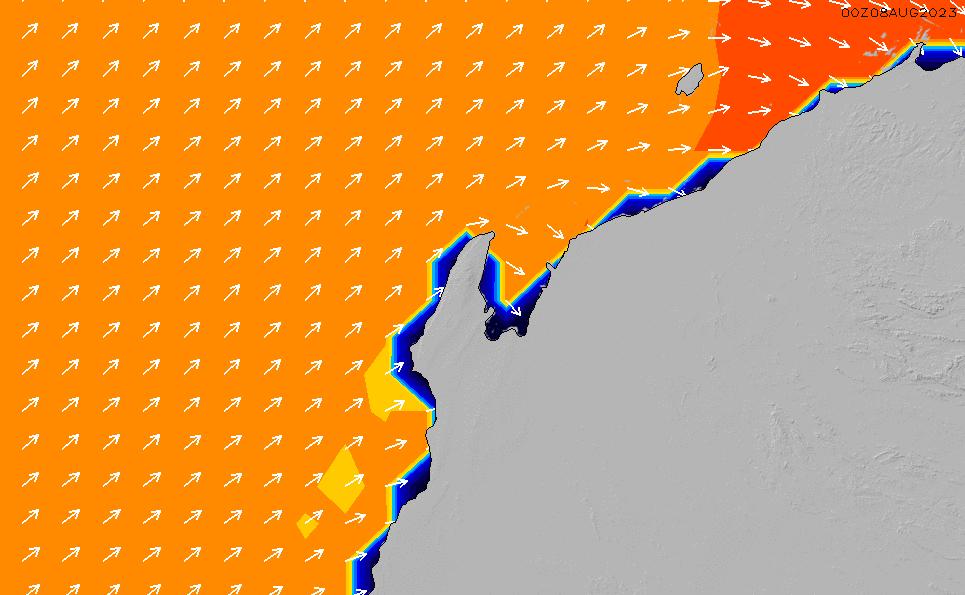 2020/8/15(土)2:00ポイントの波周期