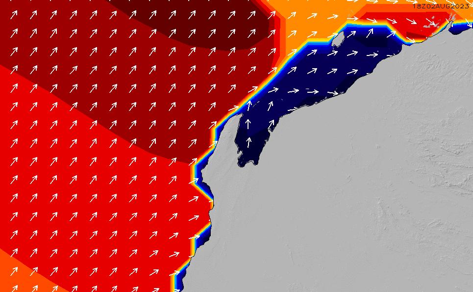 2020/6/2(火)8:00ポイントの波周期