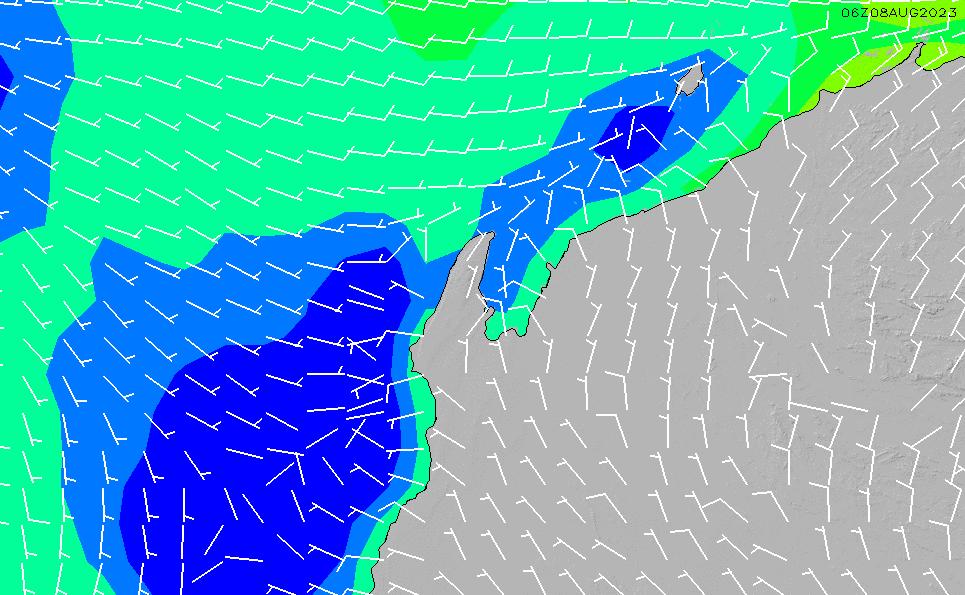 2020/8/11(火)20:00風速・風向