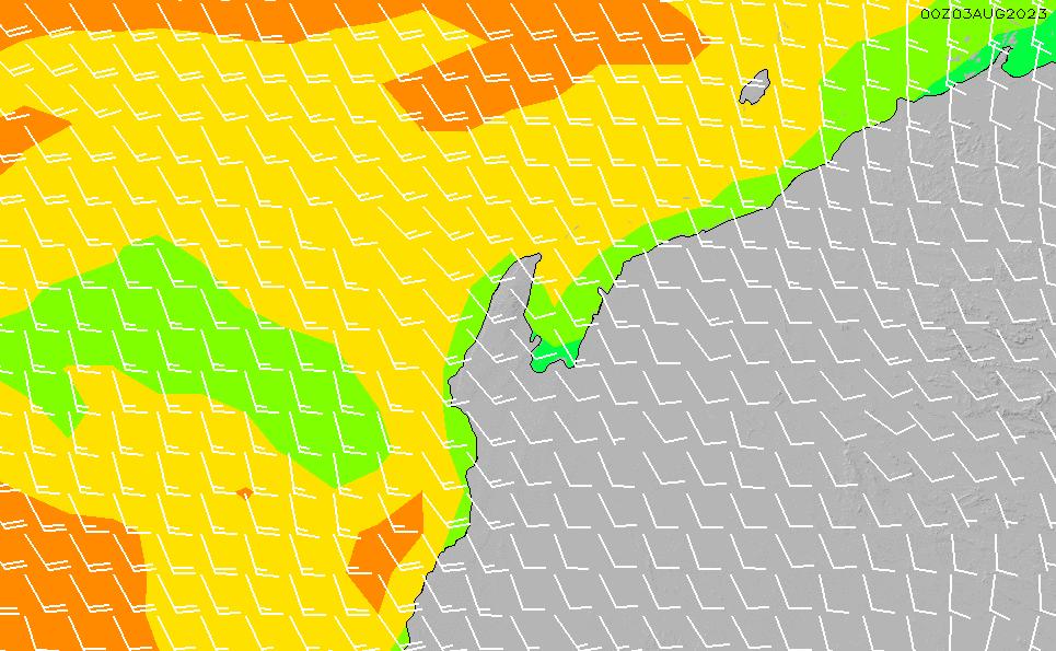 2021/4/18(日)2:00風速・風向