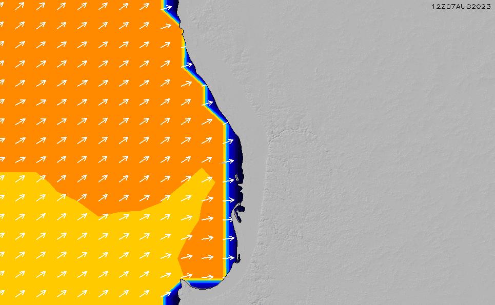 2021/10/23(土)20:00ポイントの波周期