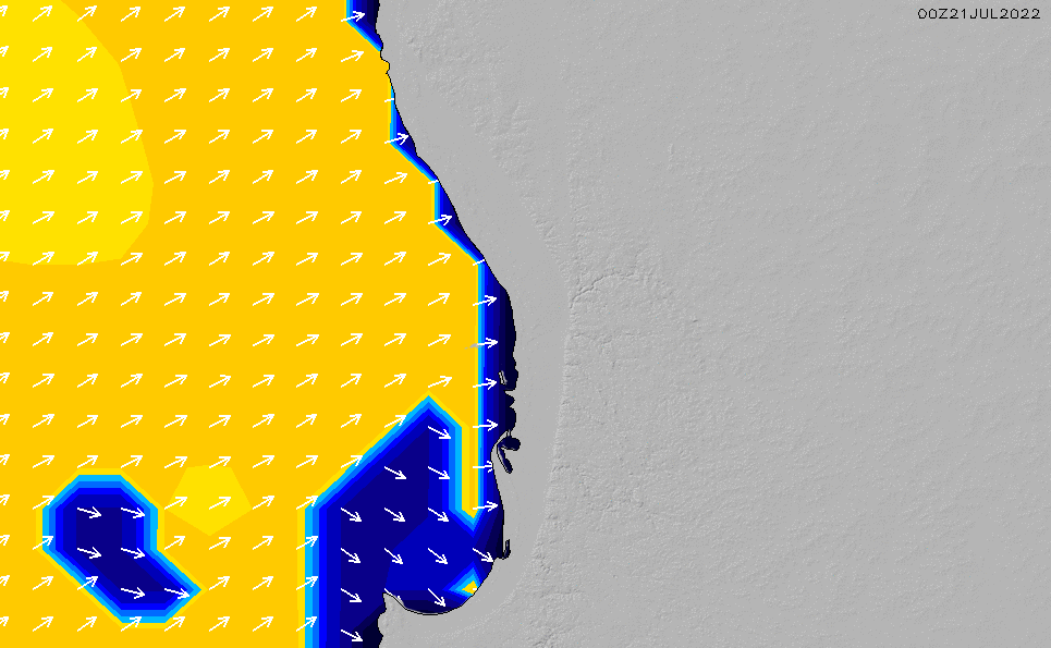 2020/9/23(水)8:00ポイントの波周期
