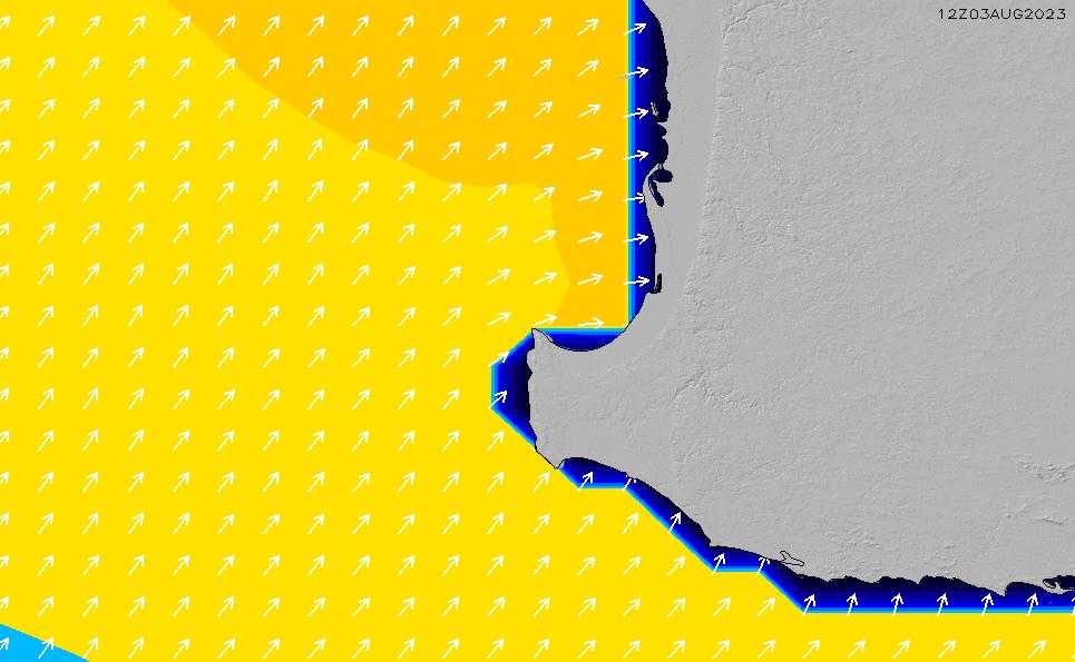 2020/8/11(火)20:00ポイントの波周期