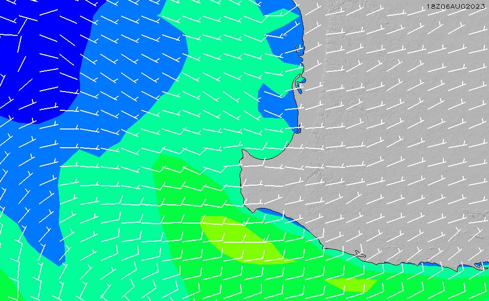 2020/5/31(日)20:00風速・風向