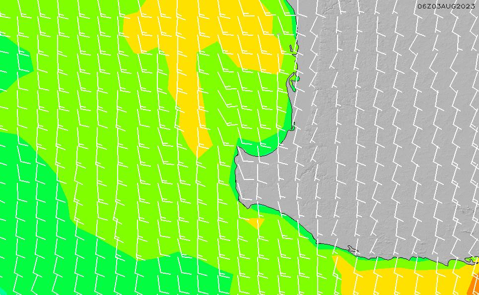 2021/5/19(水)20:00風速・風向
